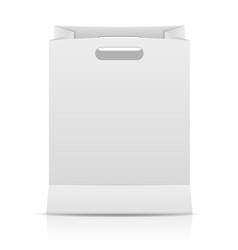 white paper shopping bag vector image