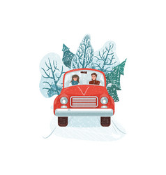 winter holiday happy man vector image
