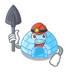 With menu igloo ice house isolated on mascot vector