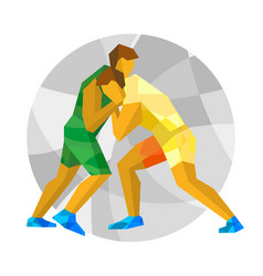 wrestling with abstract patterns vector image