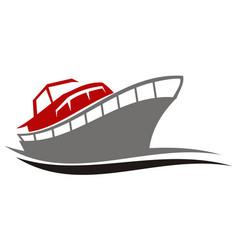 Yacht charters island vector