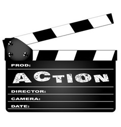 action movie clapperboard vector image