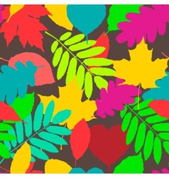 Fall pattern seamless background of autumnal vector image