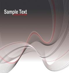 gray wave stroke vector image vector image