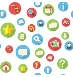Seamless pattern with website icons vector