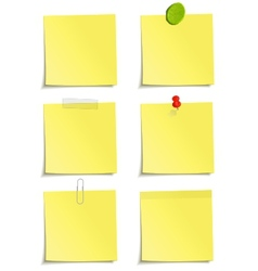set of yellow notes vector image
