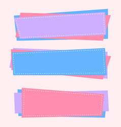Three blank banners in soft colors vector