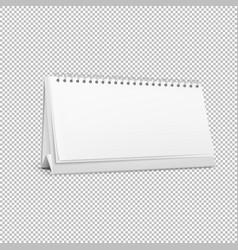 realistic horizontal standing blank spiral vector image vector image