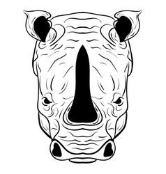 rhino doodle sketch vector image