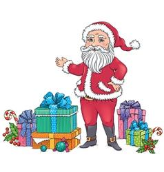 Santa Claus gifts vector image vector image