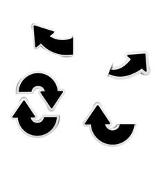 set of black arrow stickers vector image vector image