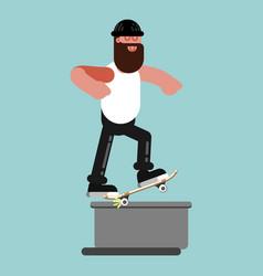 Skater doing backgrind vector