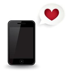 Smart Phone Love vector image