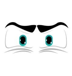 angry cartoon eyes icon vector image