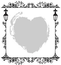 Antique Frame ornaments vector image