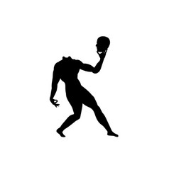 Human body silhouette without head man anatomy vector