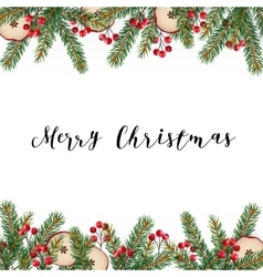 Decorative traditional Merry Christmas frame vector image vector image