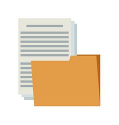 folder file document paper information internet vector image vector image