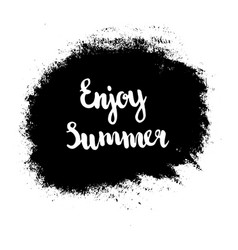 grunge enjoy summer vector image