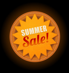 hot summer sale sun sticker symbol sign vector image