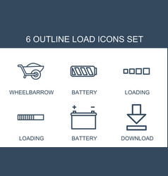 6 load icons vector