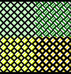 Abstract seamless square pattern background set vector