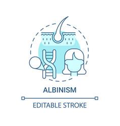 Albinism blue concept icon vector