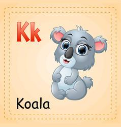 Animals alphabet k is for koala vector