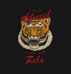 asian tiger logo face or head wild animal vector image