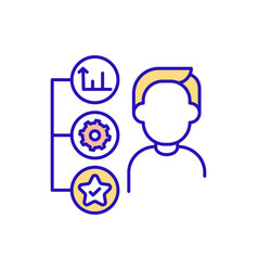 Assessment working conditions rgb color icon vector