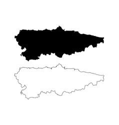asturias map vector image