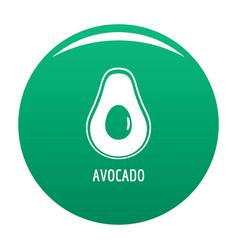 avocado icon green vector image
