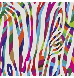 Background with colorful Zebra skin pattern vector image