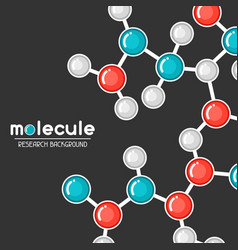 Background with molecular structure abstract vector