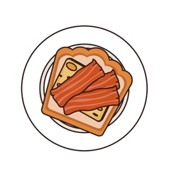 Bacon breakfast food vector