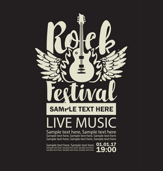 banner for rock festival live music vector image
