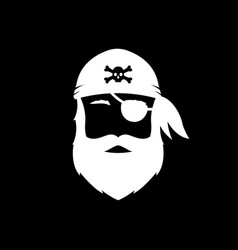 bearded man icon pirate vector image