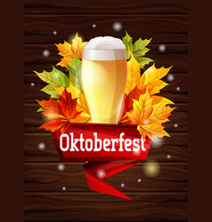 bright poster for beer party oktoberfest vector image