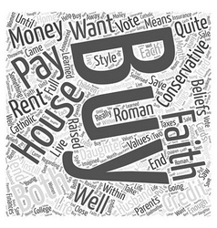 buy a house Word Cloud Concept vector image