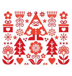 Christmas santa claus greeting card design vector
