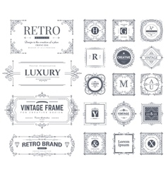 Collection of vintage ornaments vector