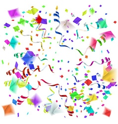 confetti blast in different directions vector image