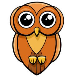 Cute owl animal character vector