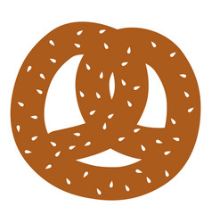delicious pretzel isolated icon vector image