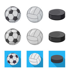 Design of sport and ball icon set of sport vector