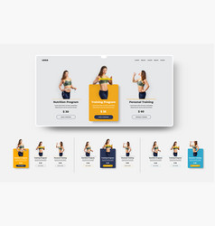 design ui product card set for web site vector image