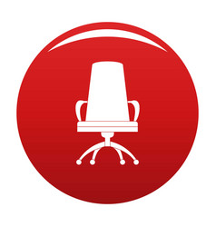 Director chair icon red vector