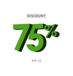 Discount 75 template design vector