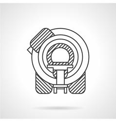 Flat line MRI device icon vector
