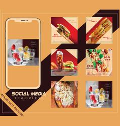 food social media post vector image